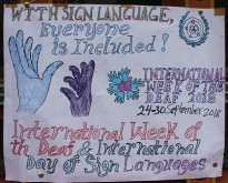 IWD posters made by the students